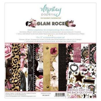 Zestaw papierów do scrapbookingu, Glam Rock, 30x30 cm-Mintay Papers