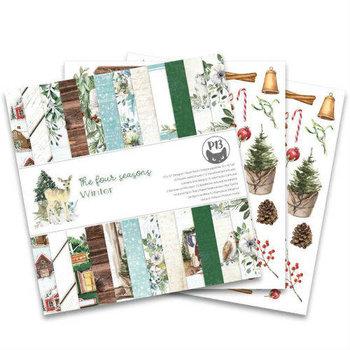Zestaw papierów do scrapbookingu, The Four Seasons WINTER, 30x30 cm-Piątek Trzynastego - P13