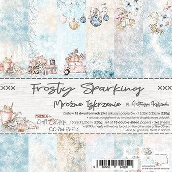 Zestaw papierów, Frosty Sparking, 15x15 cm-Craft O'Clock
