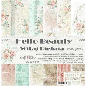 Zestaw papierów, Hello Beauty, 15x15 cm-Craft O'Clock