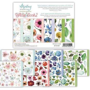 Zestaw papierów ozdobnych, Flora Book 2, 15x20 cm-Mintay Papers