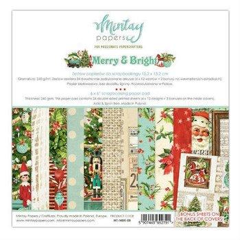 Zestaw papierów ozdobnych, Merry&Bright, 15x15 cm-Mintay Papers