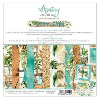 Zestaw papierów ozdobnych, Urban Jungle, 15x15 cm-Mintay Papers