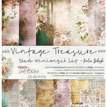 Zestaw papierów Vintage Treasure, 30x30 cm-Craft O'Clock