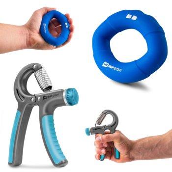 Zestaw ściskacz regulowany 40kg + silikonowy 18,1kg-Hop-Sport