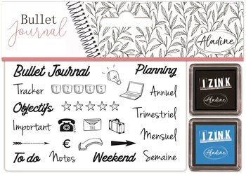 Zestaw stempli, Bullet Journal, Organizacja-Aladine