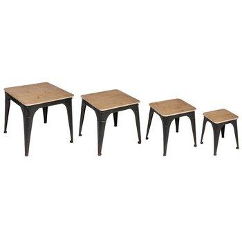 Zestaw stolików kawowych ATMOSPHERA Noir, brązowo-czarny, 4 szt.-Atmosphera