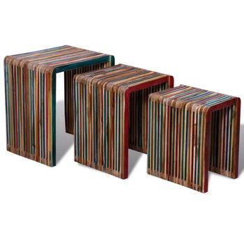 Zestaw stolików kawowych vidaXL, 3 szt., 50x35x44 cm-vidaXL