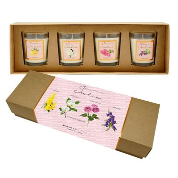 Zestaw świec zapachowych LACROSSE, Le Jardin de Julie, 4 elementy, biały-Lacrosse