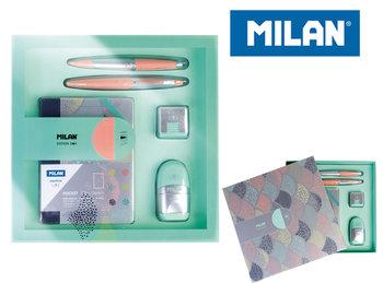 Zestaw szkolny, upominkowy, Silver kolorowy-Milan