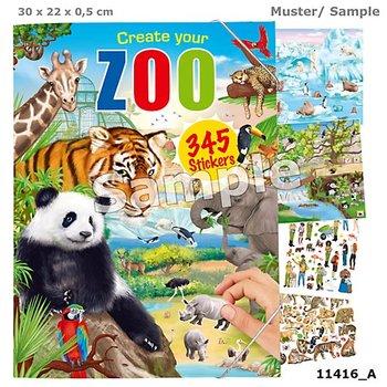 Zestaw z naklejkami Zoo, 29 stron-Depesche