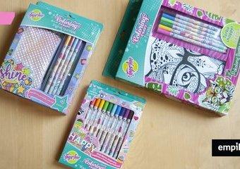Zestawy kreatywne do samodzielnego ozdabiania marki Stunx – pokoloruj swoją torbę i piórnik!
