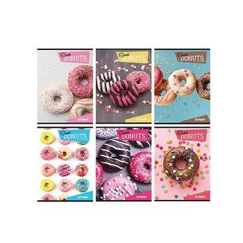 Zeszyt w kratkę A4, Macarons, 10 sztuk, mix wzorów-Eurocom