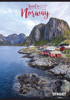 Zeszyt w kratkę, A5, Travel to Norwegia, STREET-Eurocom
