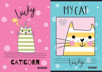 Zeszyt w kratkę, My Cat, A5, 10 sztuk, mix wzorów-Eurocom