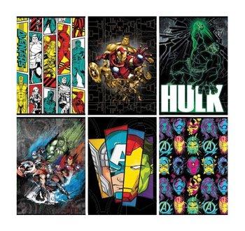 Zeszyt w linie, Avengers, A5, 10 sztuk, mix wzorów