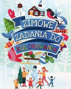Zimowe zadania do kolorowania-Wiśniewska Anna