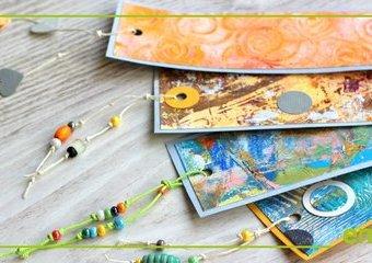 Zrób zakładki do książek - poznaj możliwości malowania akrylami