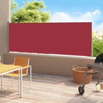 Zwijana markiza boczna na taras, 220x500 cm, czerwona-vidaXL
