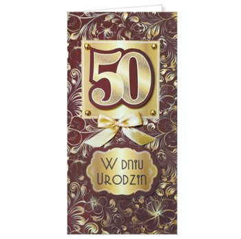 Życzenia na 50-te urodziny EZ 156-ENZO